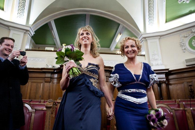 Fotografo matrimonio Torino: due spose a Londra