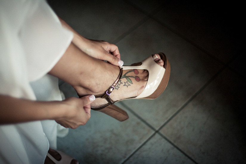 Scarpe di una sposa