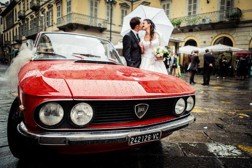 Fotografo matrimonio Torino: Lancia Fulvia e amore, che cosa c'è di meglio?