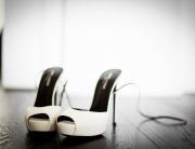 Due splendide scarpe con i fotografi di matrimonio a Torino
