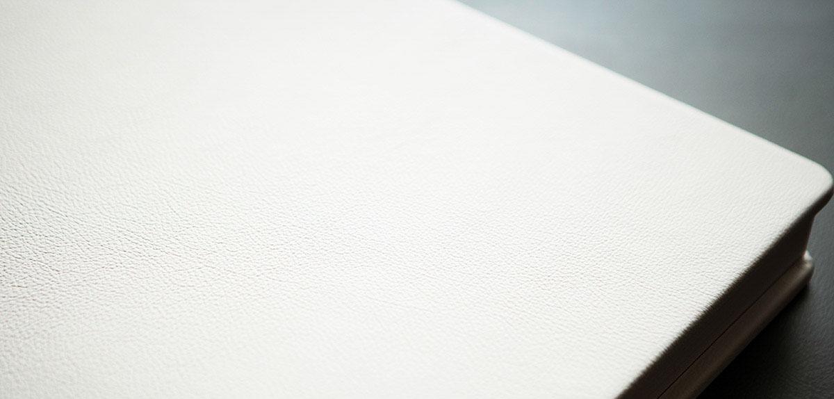 Album di matrimonio in pelle a Torino, dettaglio