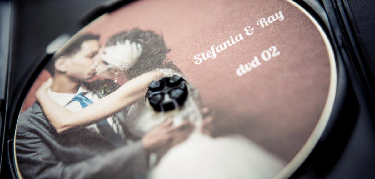 dettaglio del dvd di matrimonio torino
