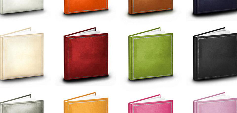 Con DOTScollective, fotografo di matrimonio a Torino, sono disponibili tantissimi colori e copertine per il vostro album di matrimonio