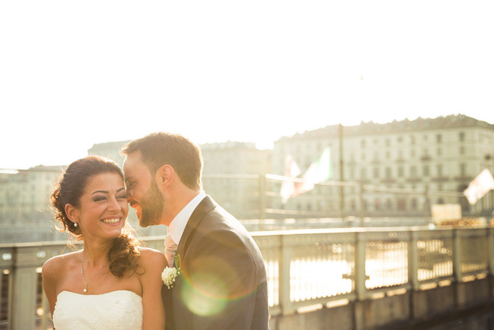 Fotografo matrimonio Torino - due sposi a Torino